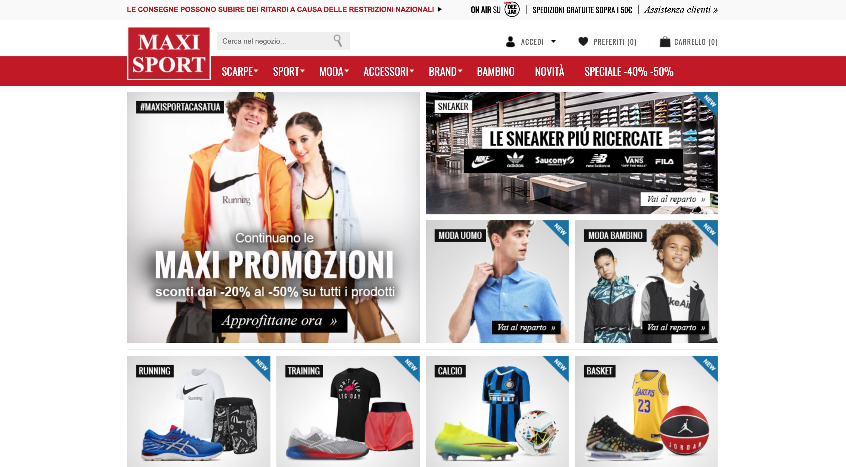 Maxi Sport attrezzature sport e abbigliamento sportivo