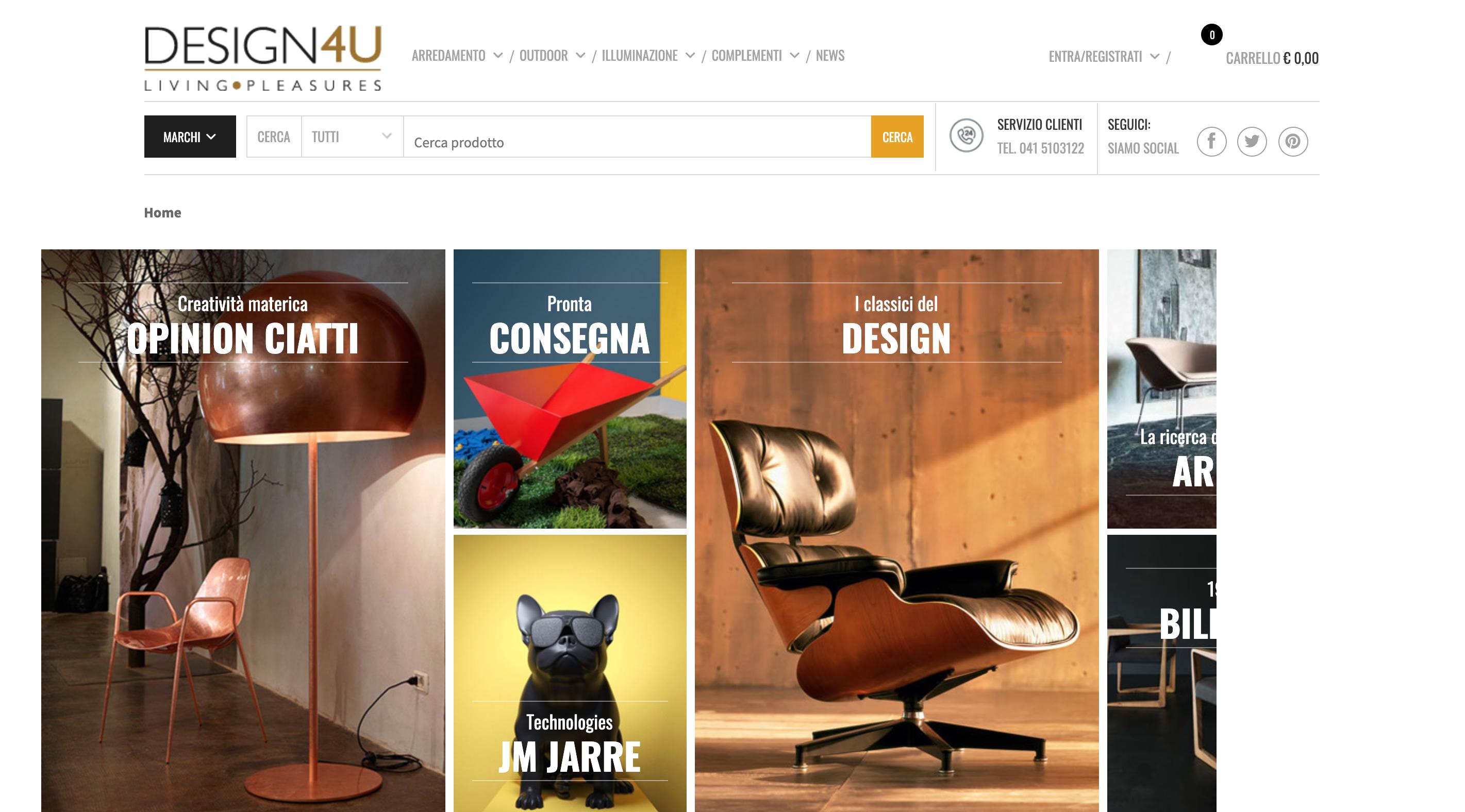 Design4ustore shop arredo mobili online