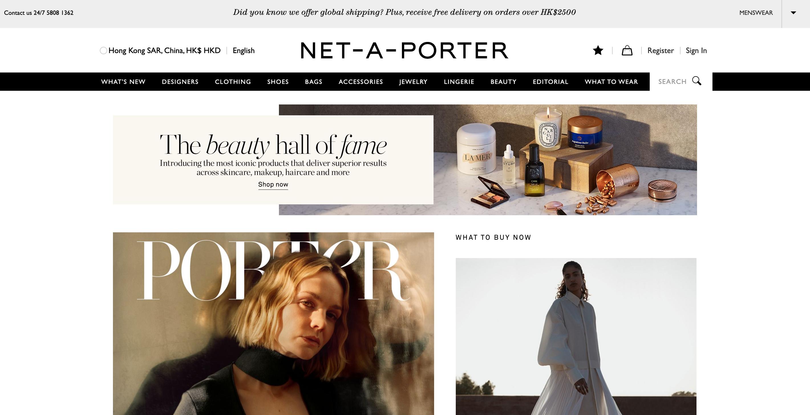 Net A Porter abbigliamento uomo e donna