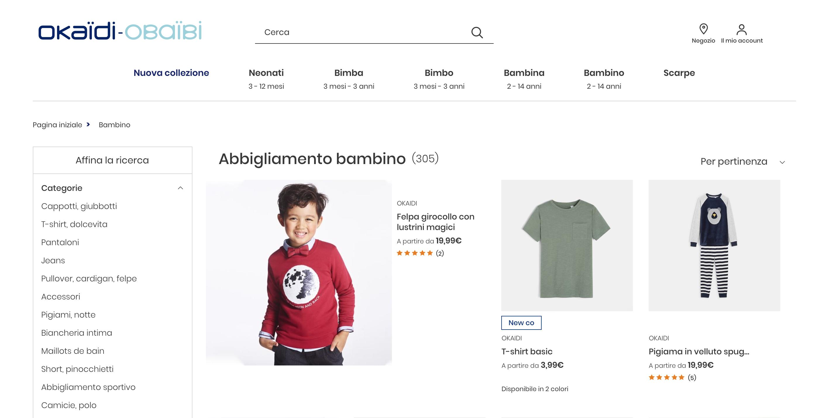 Okaidi abbigliamento bambini