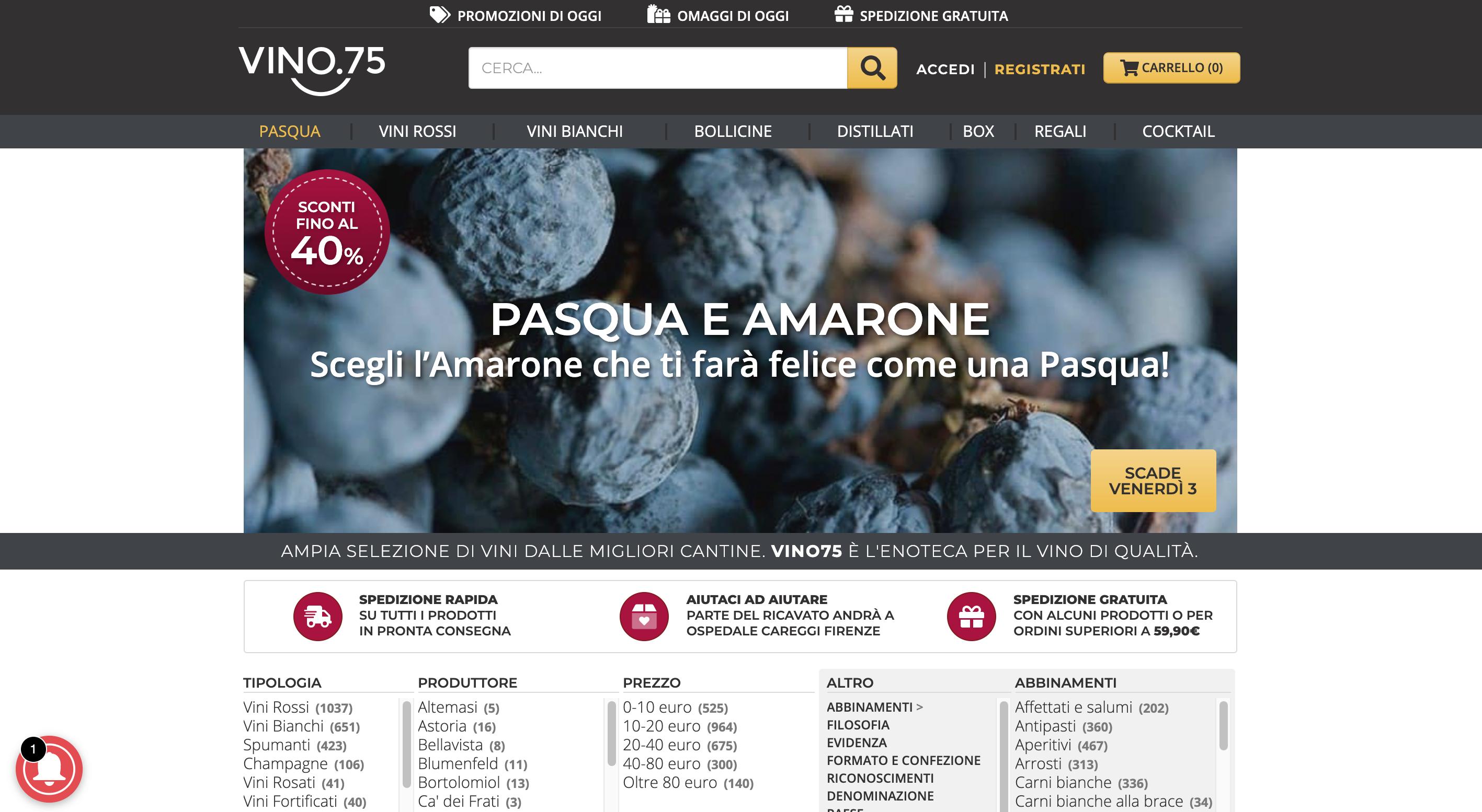 Vino75 Vino online