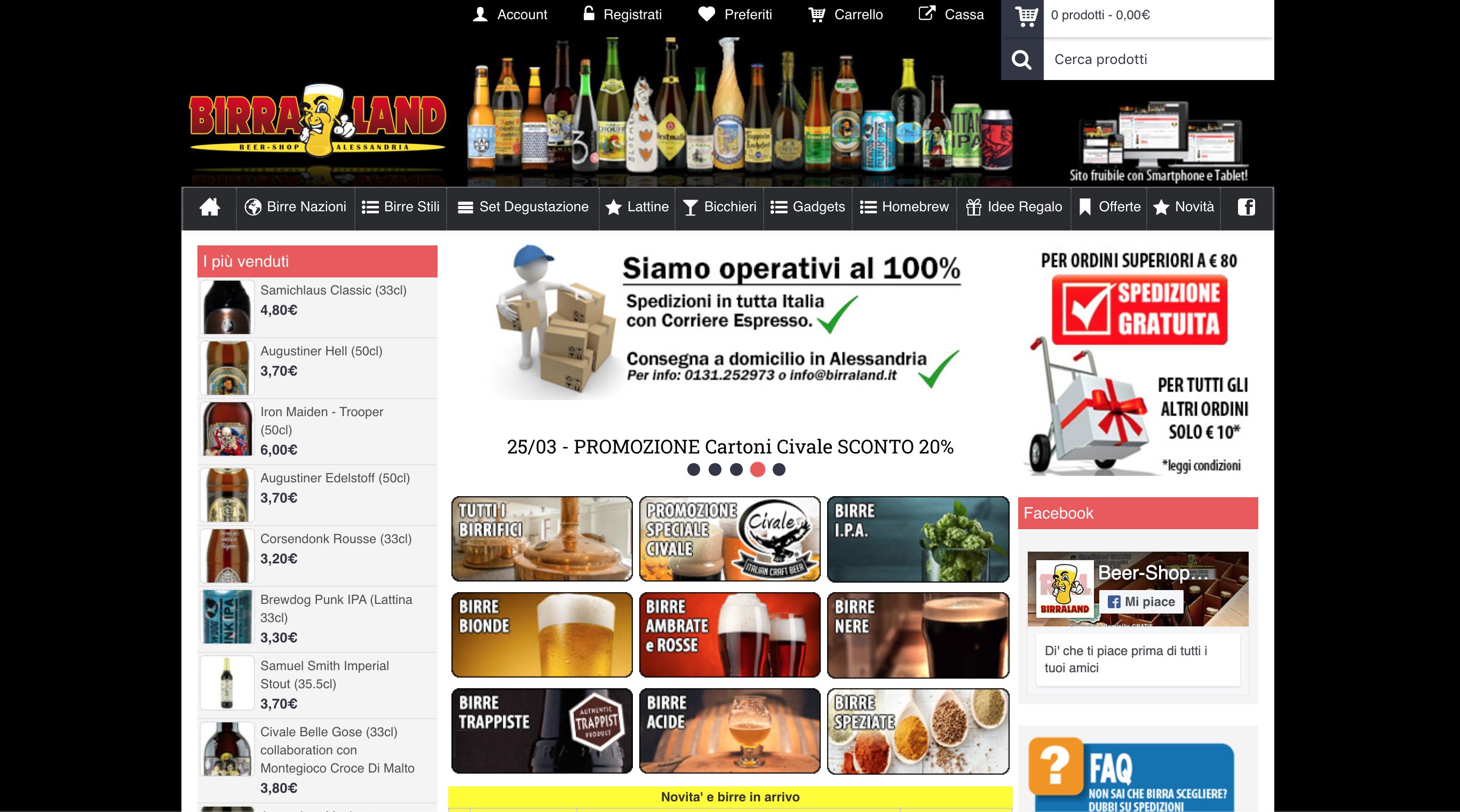birraland dove comprare birra online