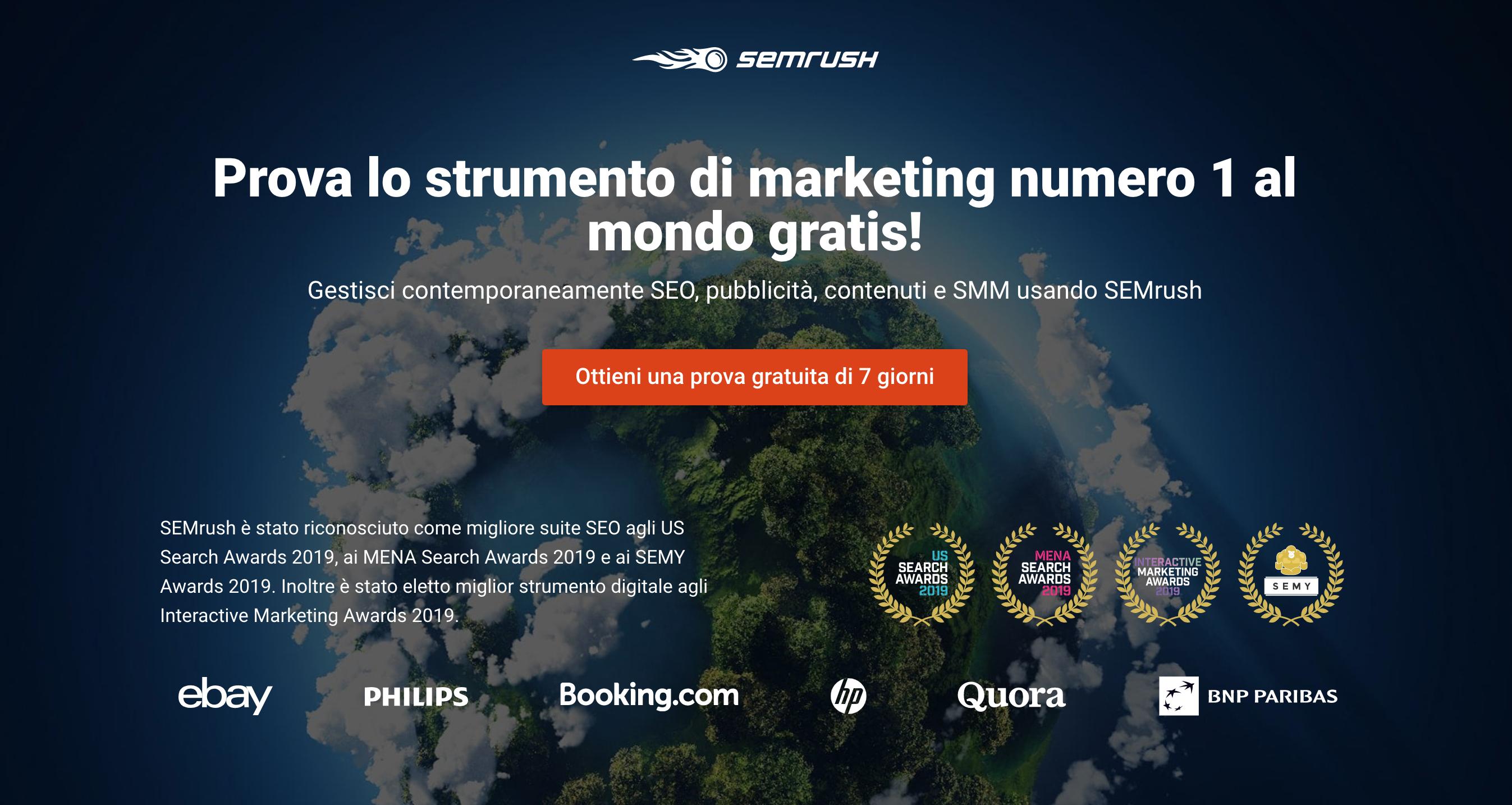 semrush per realizzare un e-commerce di successo