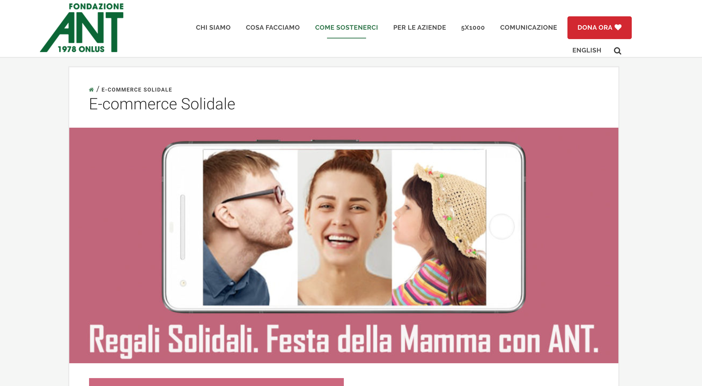 Fondazione ANT regalo festa mamma