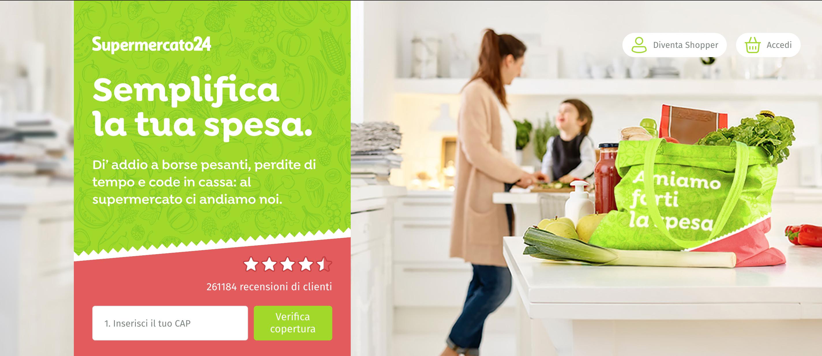 Supermercato24 dove fare la spesa online