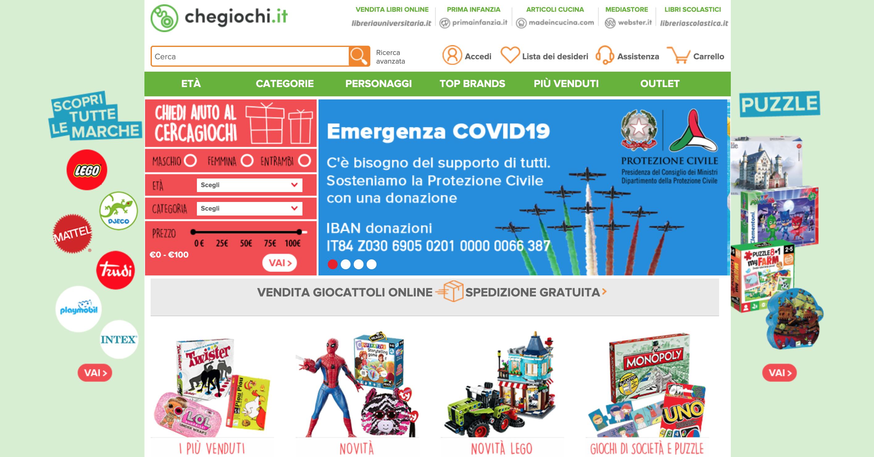 CheGiochi negozio giocattoli online