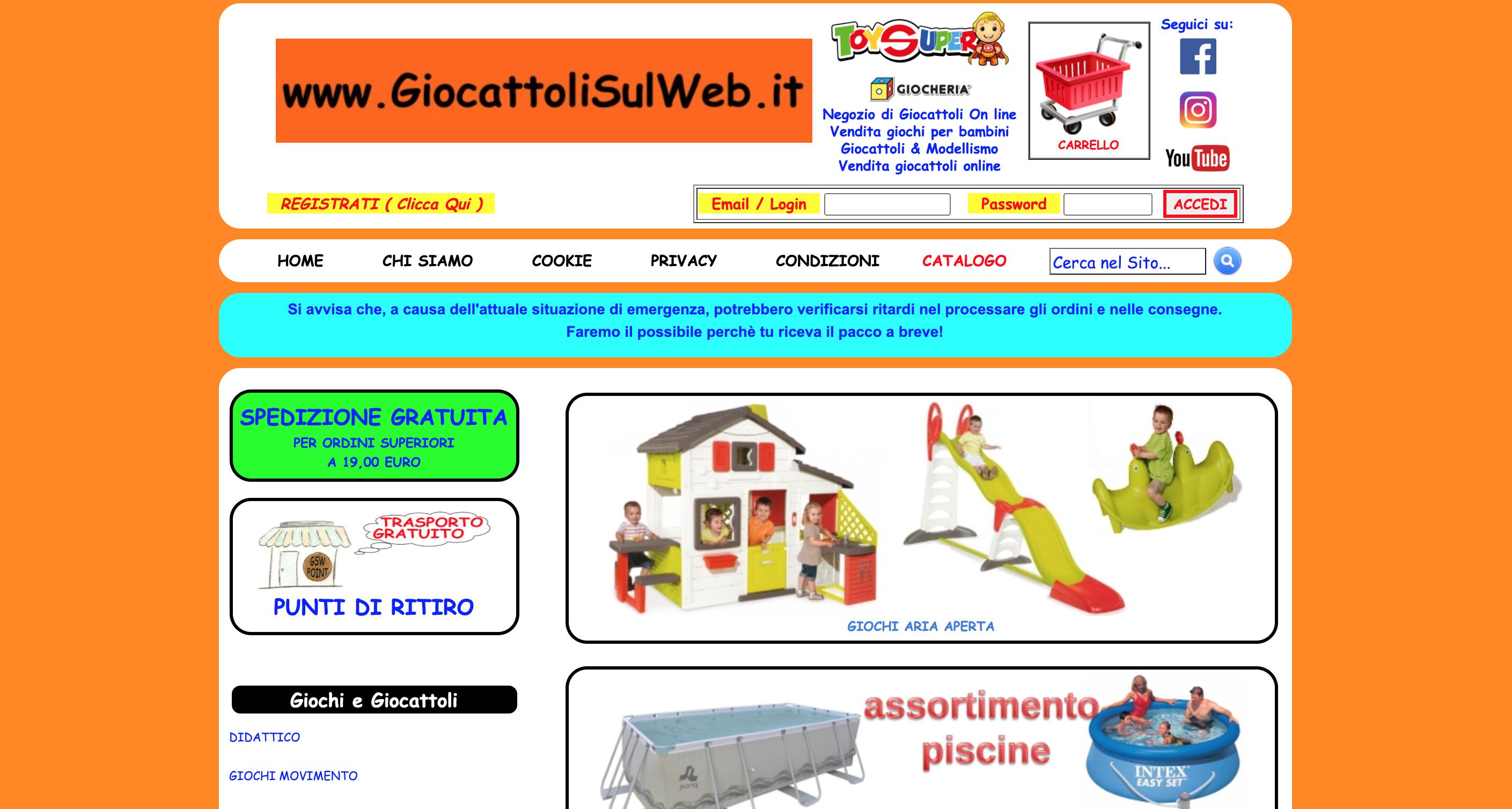 Giocattoli sul Web