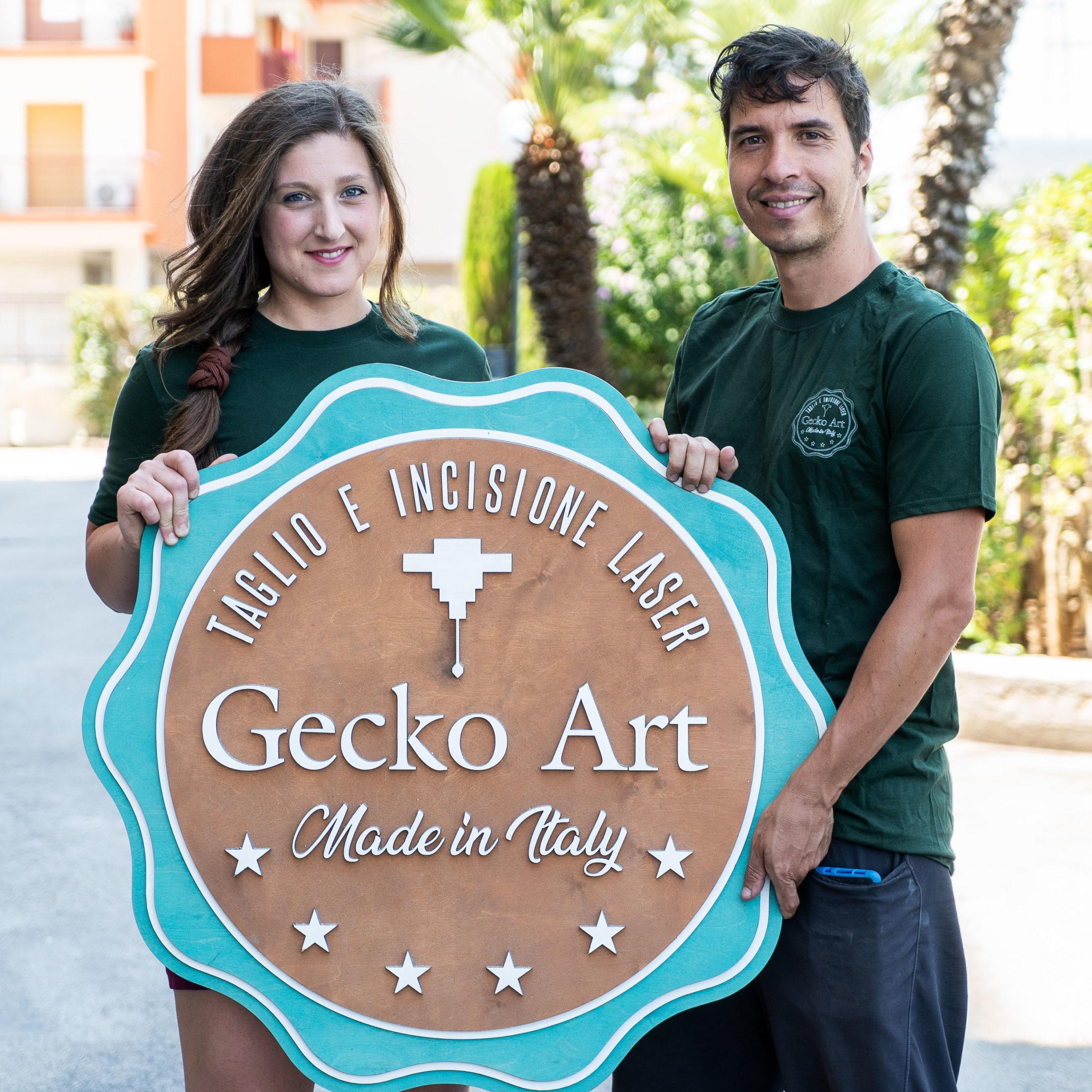 Giuseppe Amorese e Domiziana De Marinis Gecko Art
