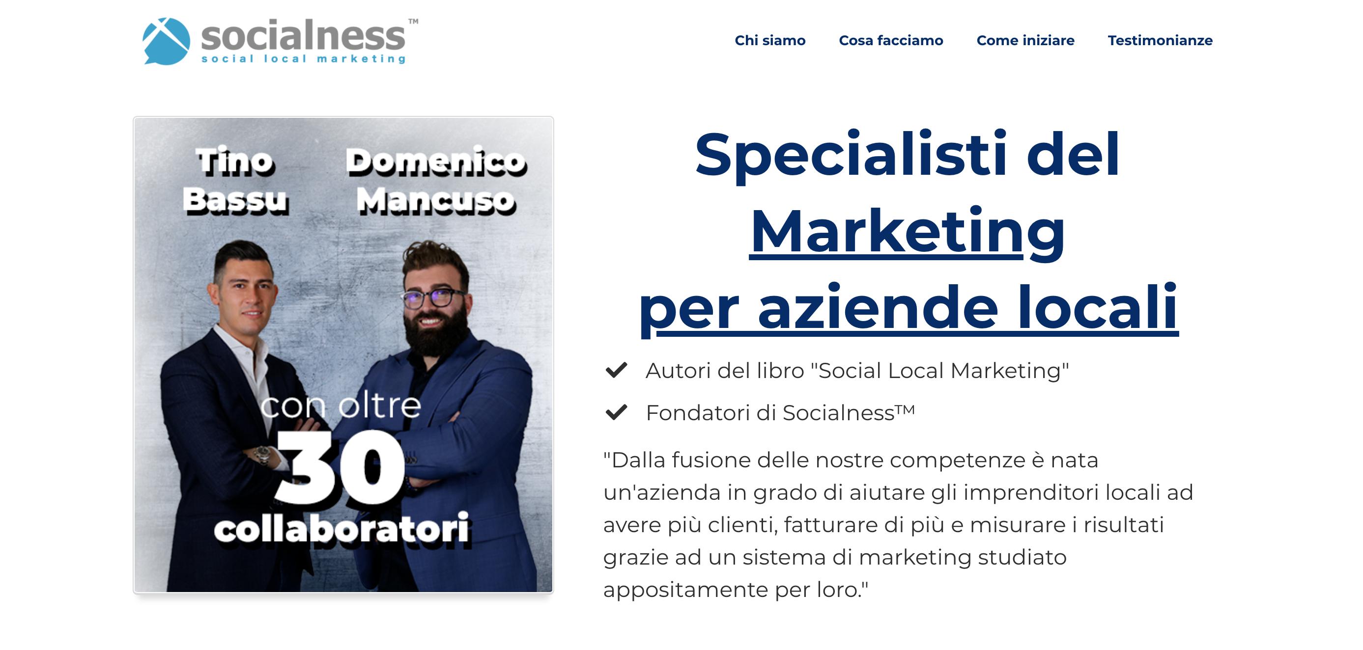Socialness social local marketing
