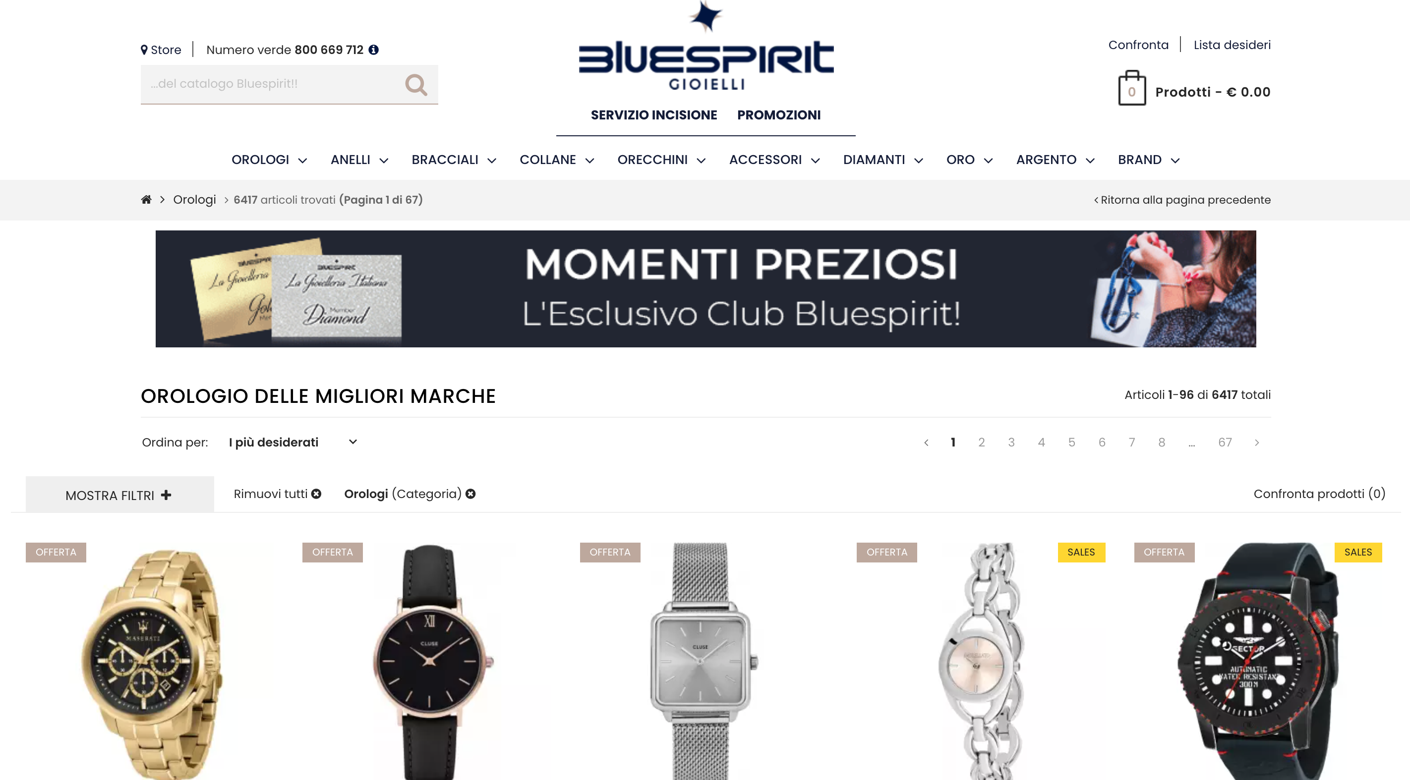 Bluespirit orologi uomo e donna online