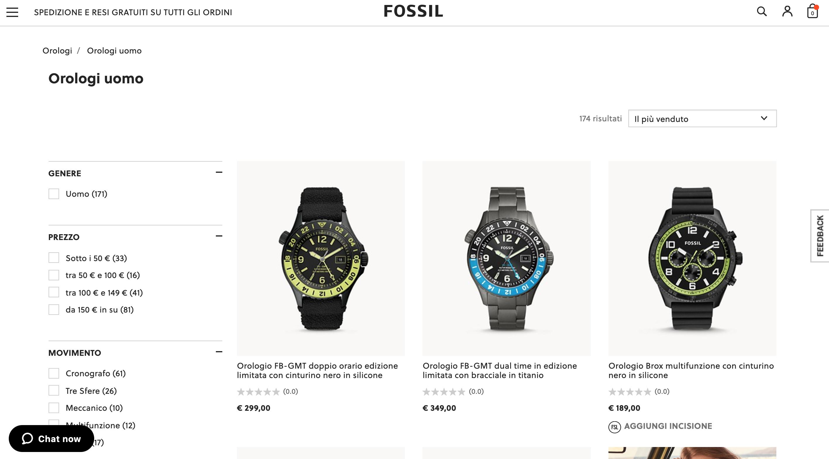 Fossil orologi uomo e donna online