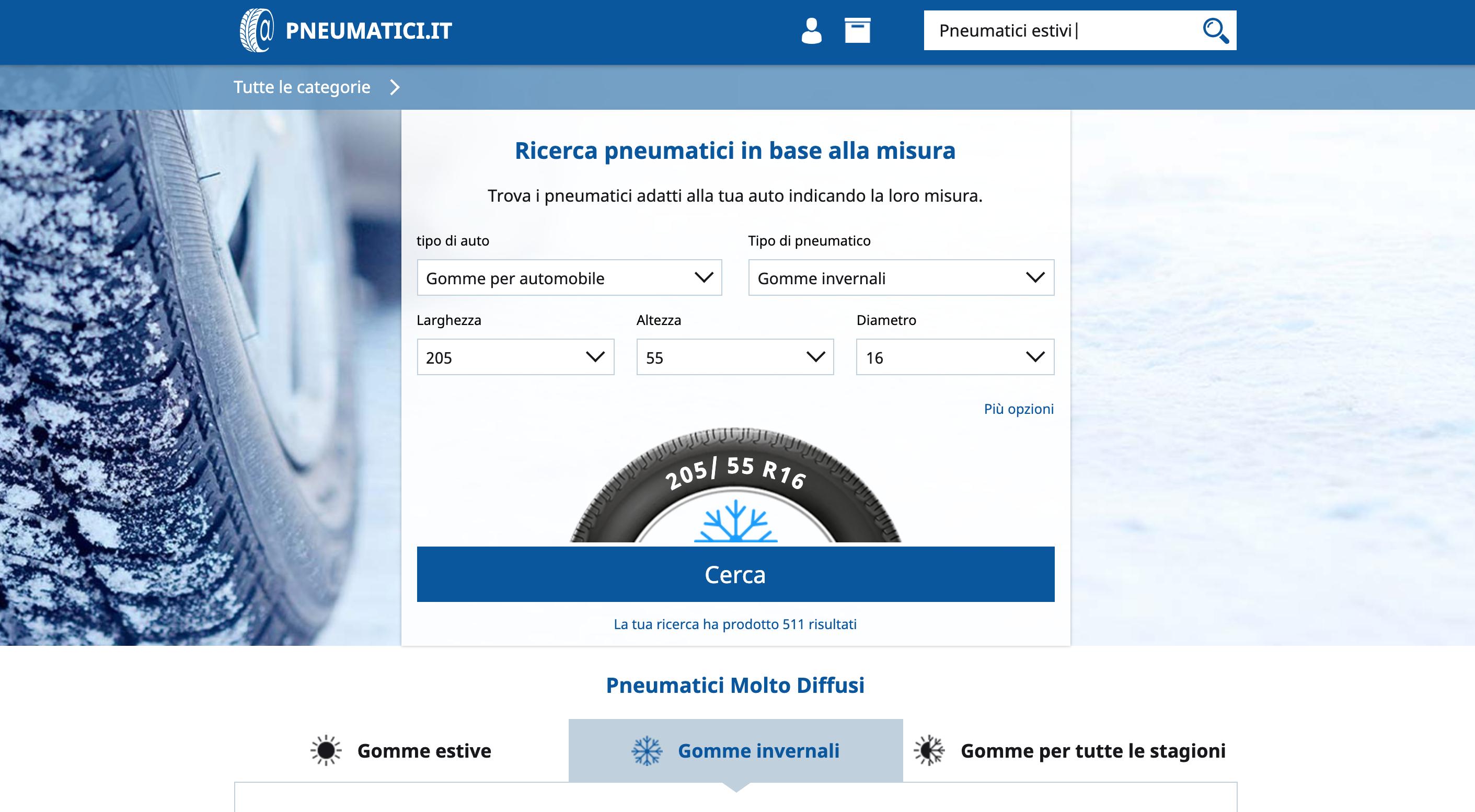 Pneumatici.it pneumatici e gomme online