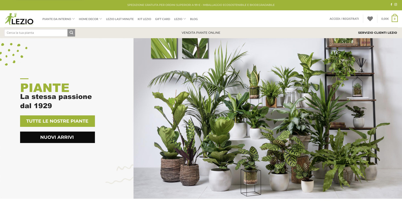Lezio vendita piante online