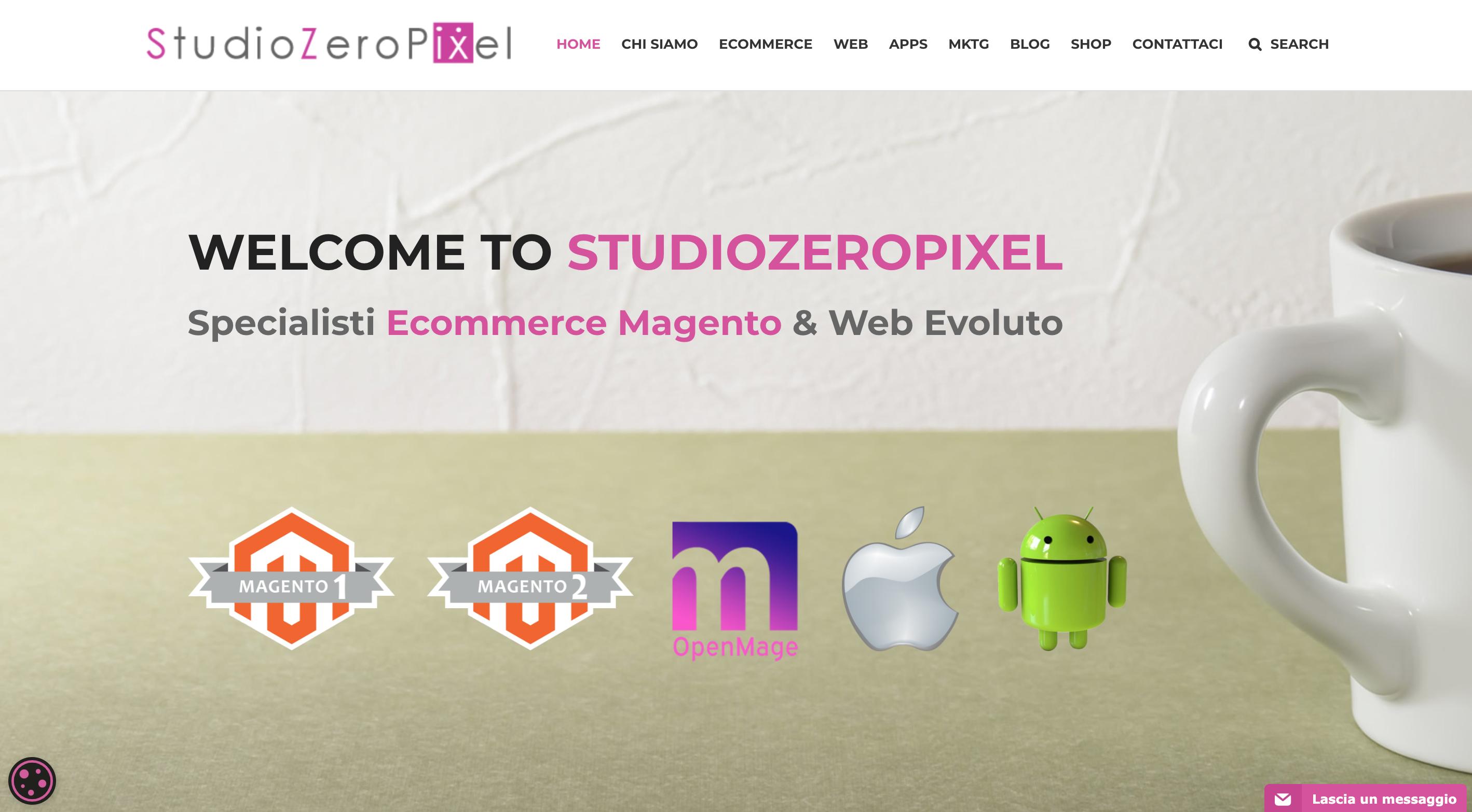 Studio Zero Pixel, realizzazione ecommerce