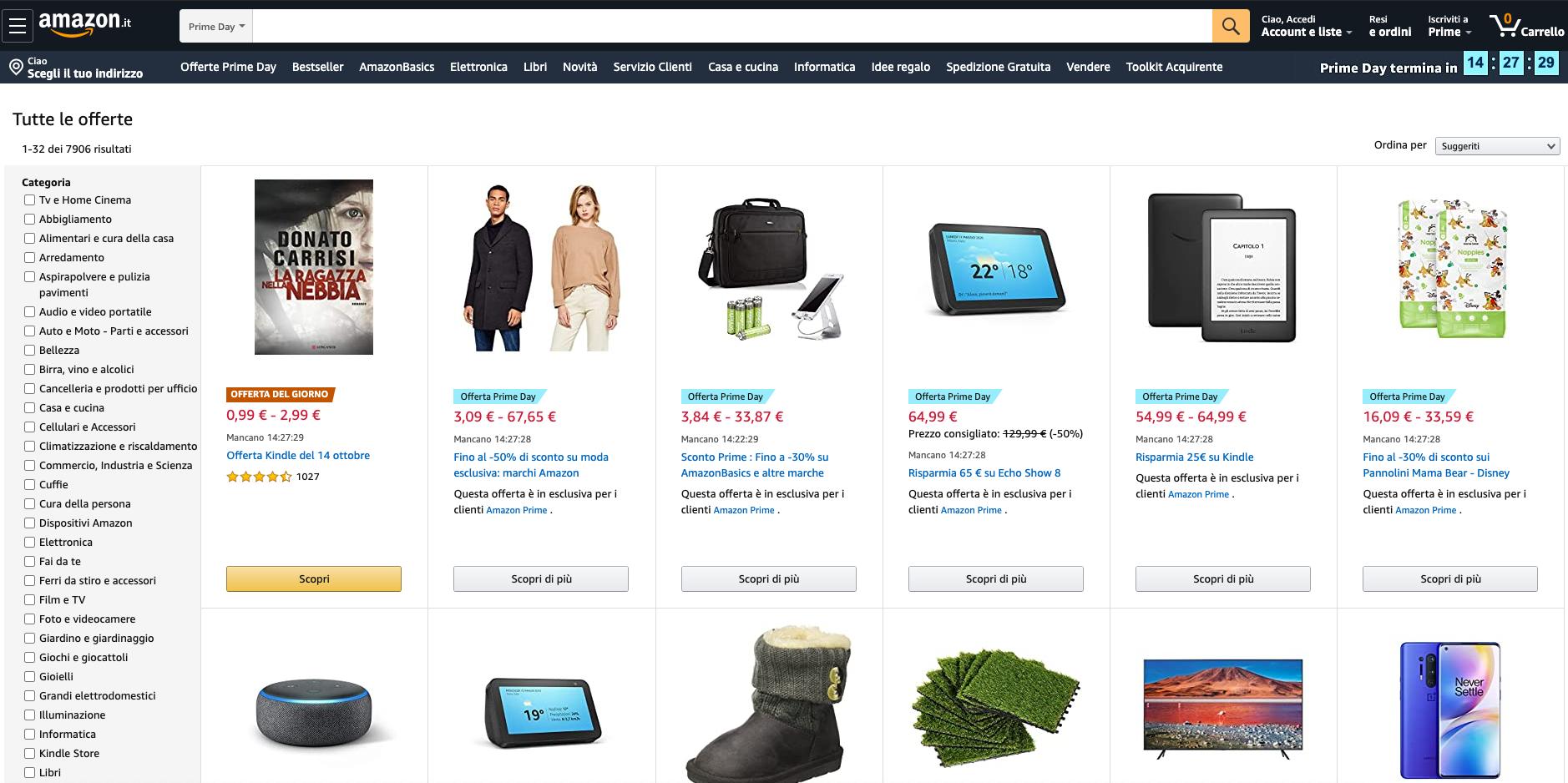 Amazon offerte black friday
