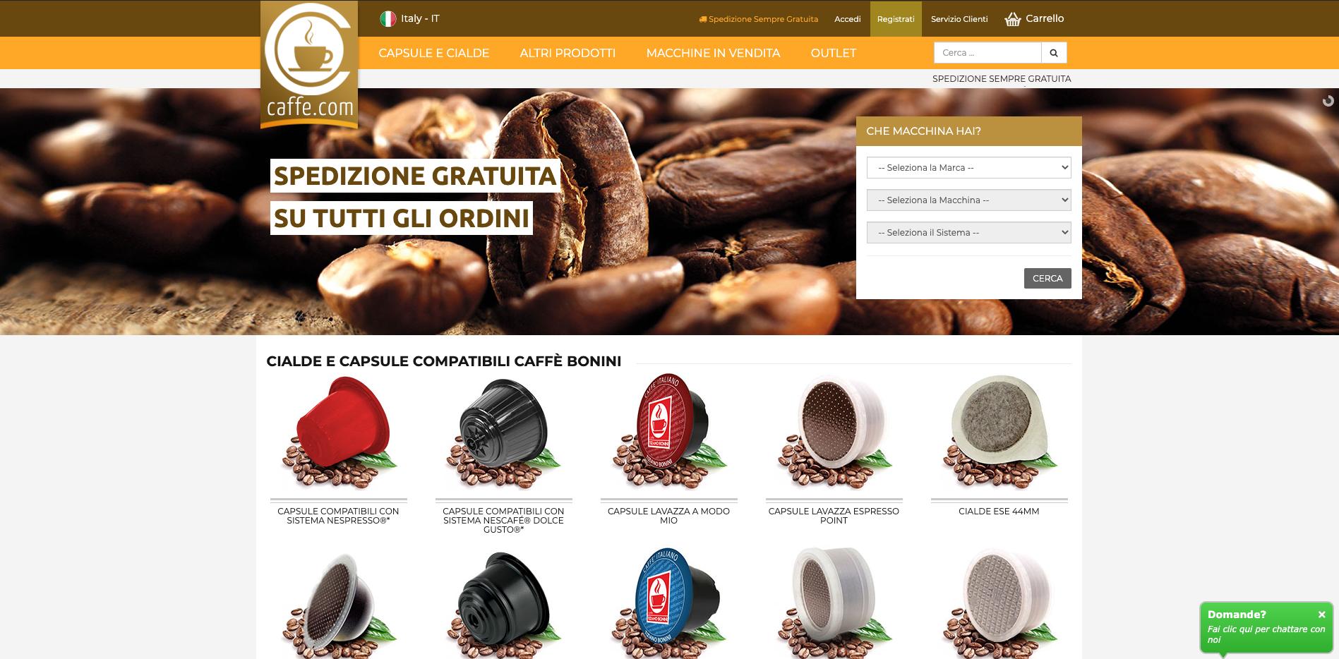 caffe.com siti caffè online