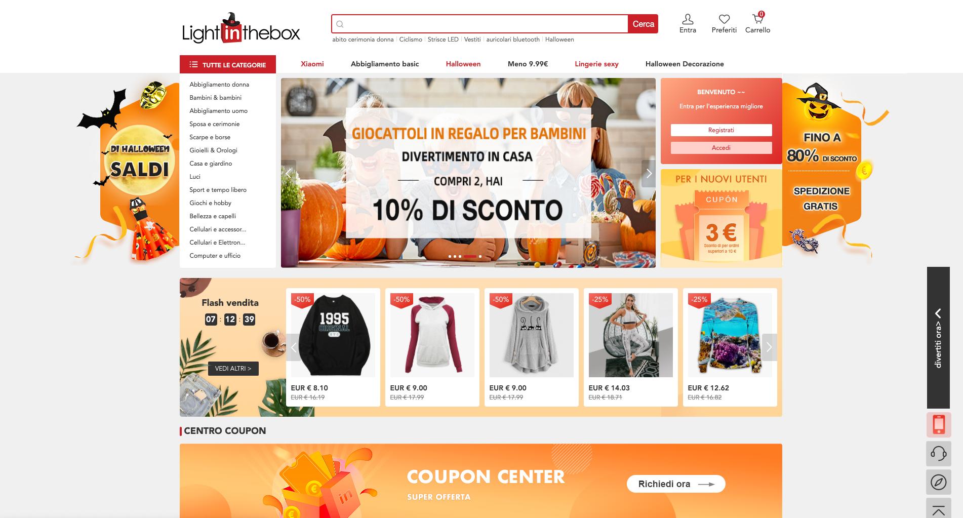 Lightinthebox siti dove comprare online a poco prezzo