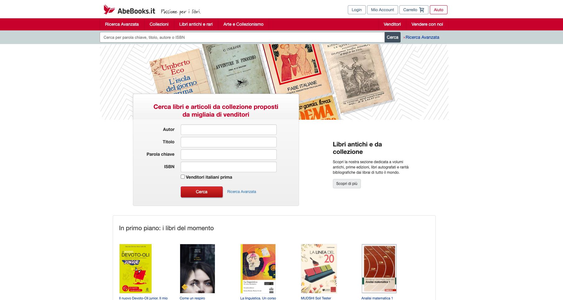 abebooks libri usati
