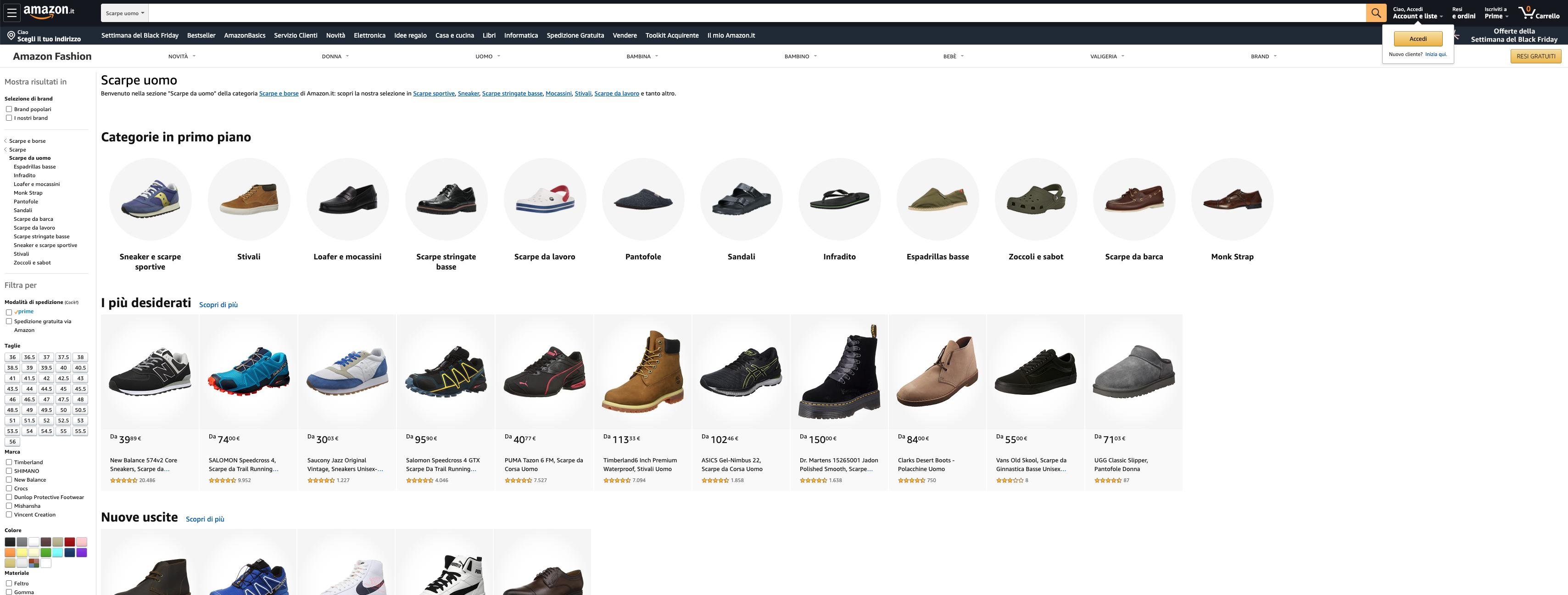 Amazon scarpe uomo online