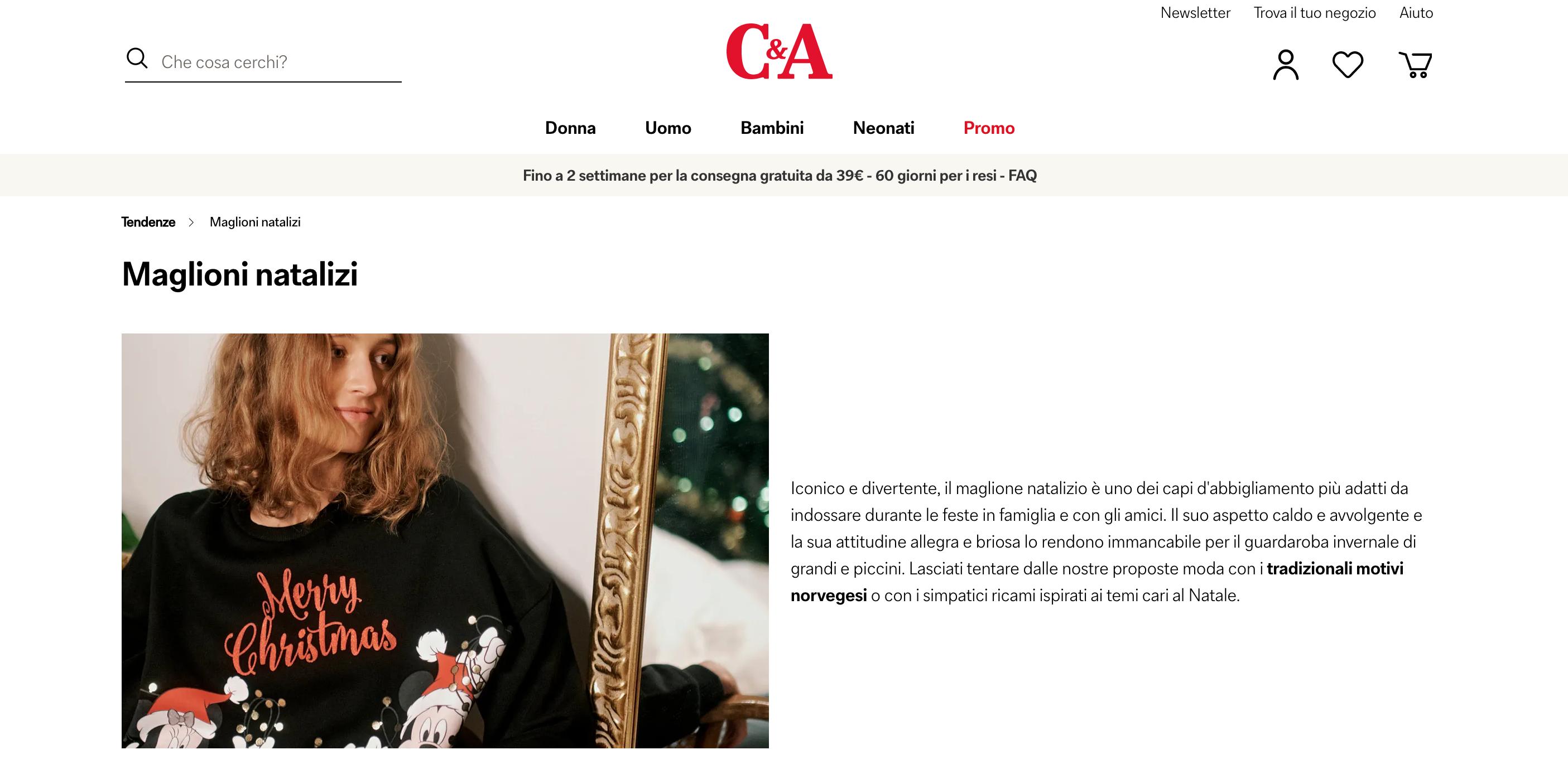 C&A Abbigliamento Natale