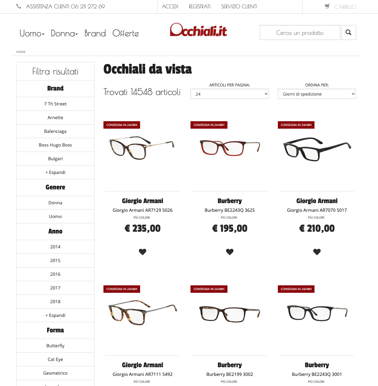 Occhiali.it occhiali da vista online