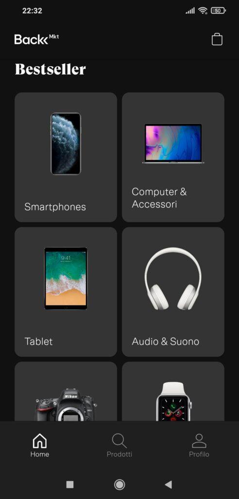 Nuova app per Back Market: shopping più facile e piacevole e possibilità di testare tecnicamente smartphone e tablet