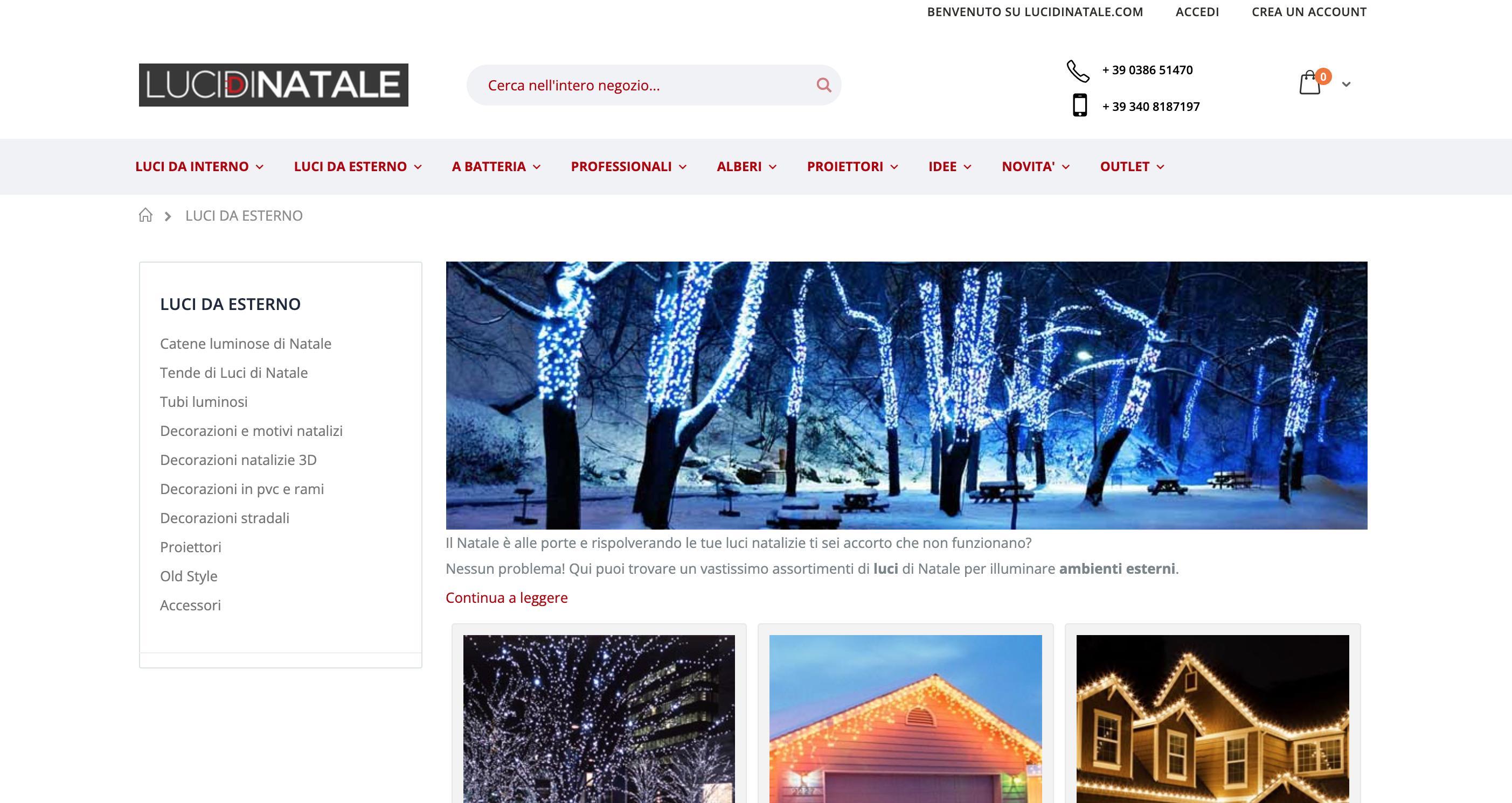 LuciDiNatale.com tra I migliori siti per luci di Natale da esterno