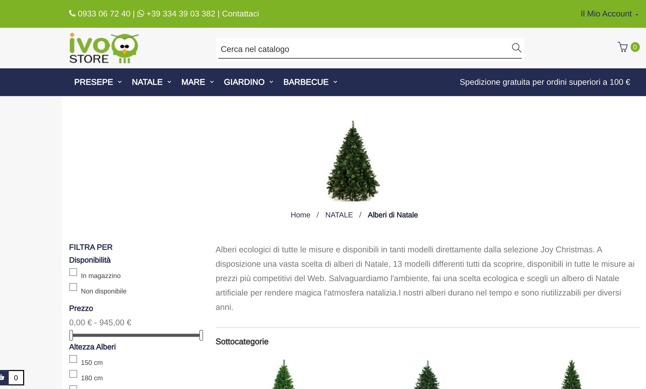Ivo Store alberi di Natale