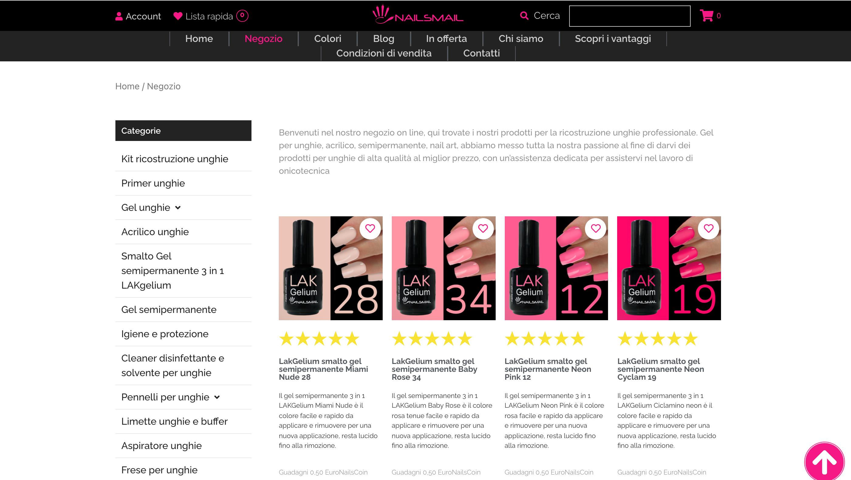Nailsmail prodotti unghie