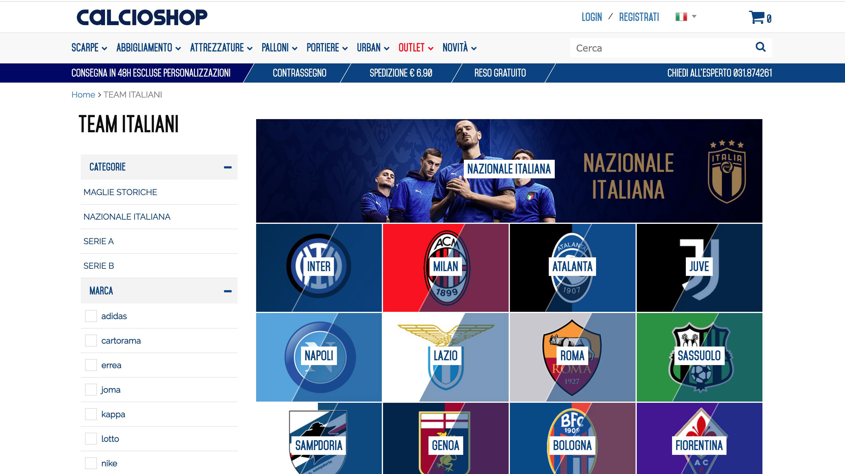 Calcioshop.it maglie da calcio online
