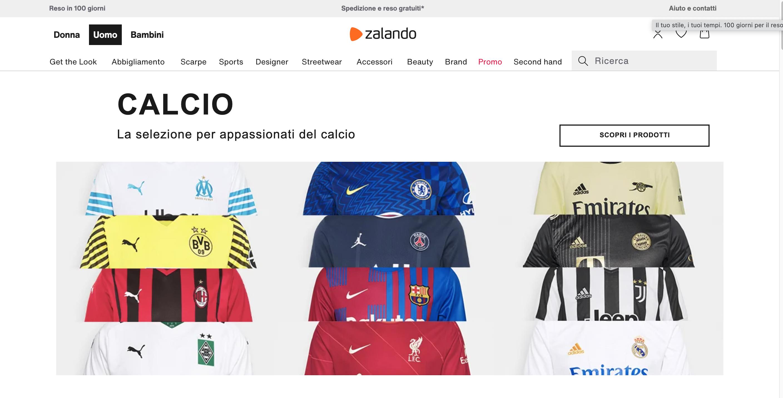 Zalando maglie da calcio online