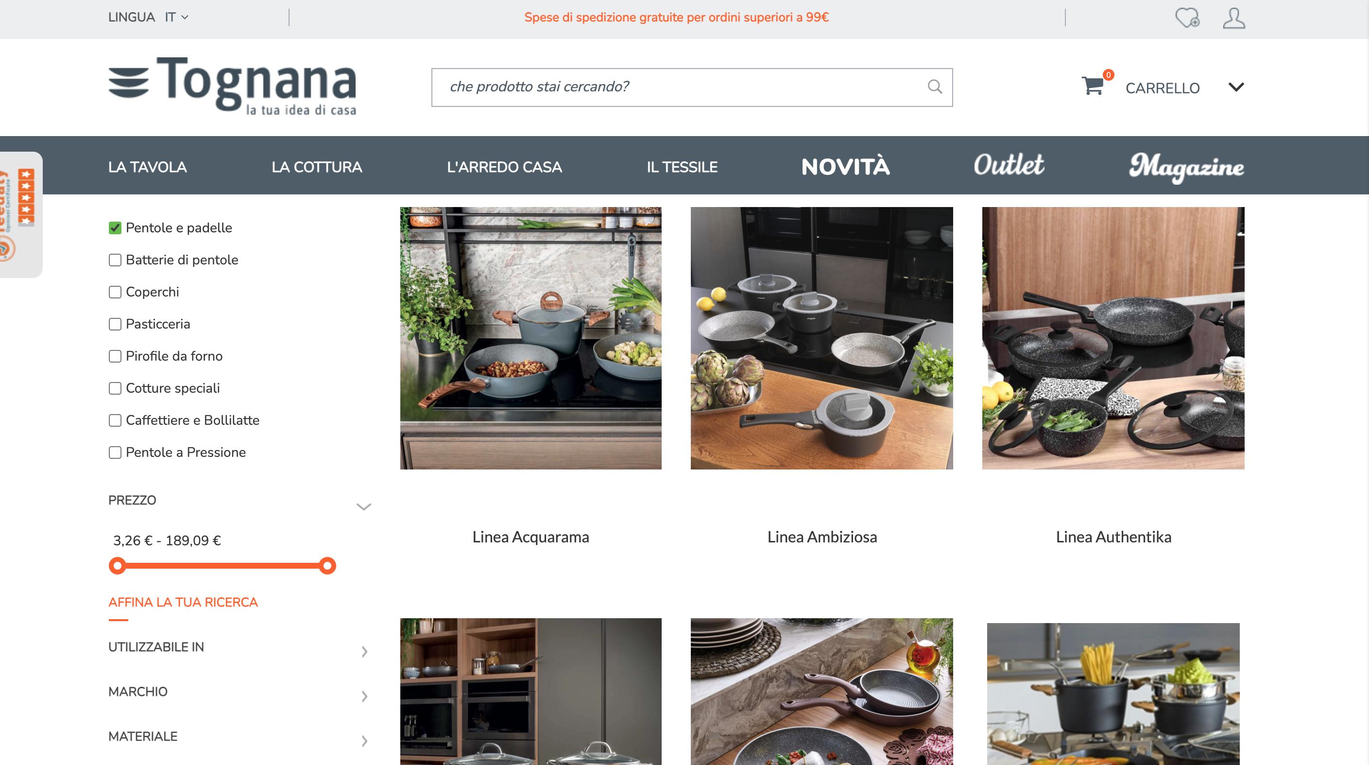 pentole Tognana online